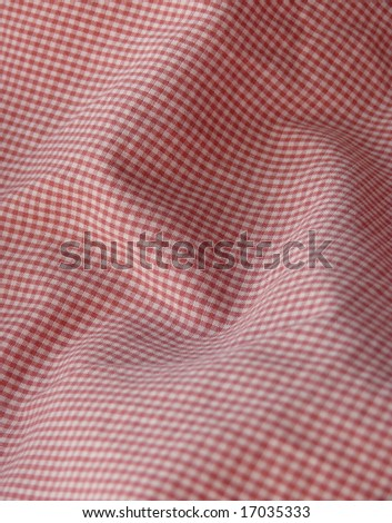 Checkered fabric closeup - series - red. Good for background. More fabrics available in my port. - stock photo