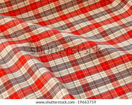 Checkered fabric. More fabrics in my port. - stock photo