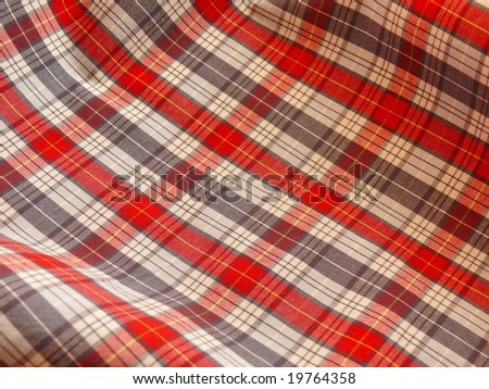 Checkered fabric. Picnic cloth. More fabrics in my port. - stock photo