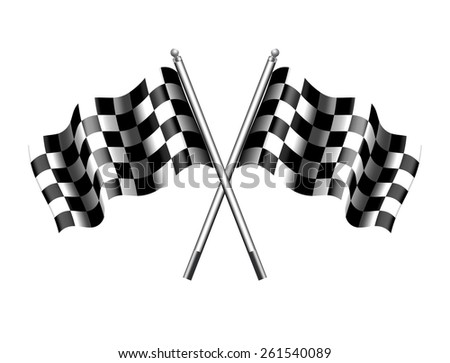 Checkered Flag Chequered Flag - Raster Version - stock photo