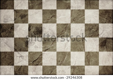 checkered flag on old paper - stock photo