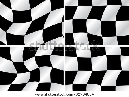 Checkered flag waving backrounds
