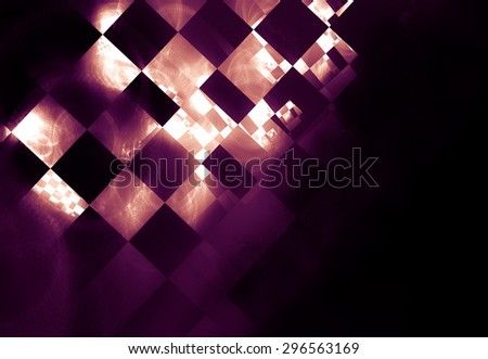 Checkered flag waving in the wind with some folds - stock photo