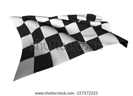 Checkered Flags illustration Racing flag - stock photo