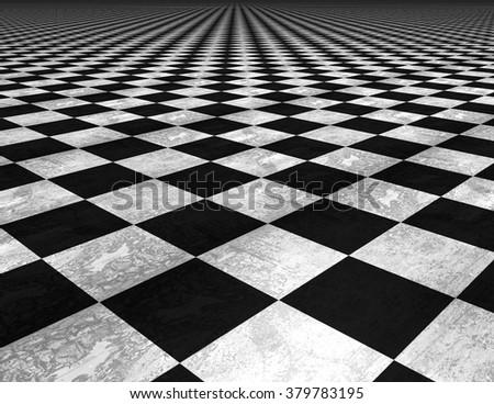 Checkered floor texture background. - stock photo