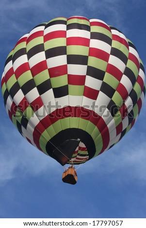 Checkered Hot Air Balloon 2 - stock photo