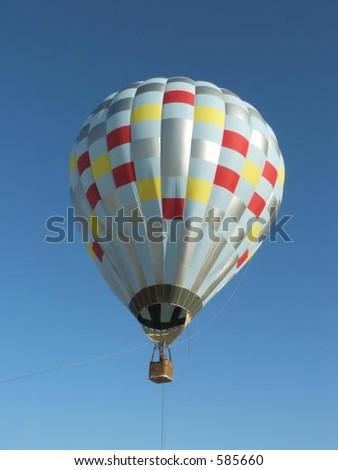 Checkered Hot air Balloon - stock photo