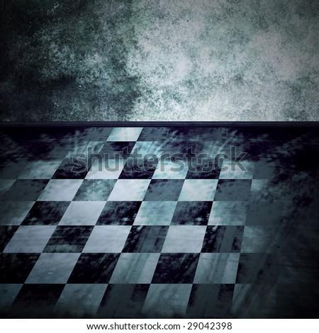 checkered interior - stock photo