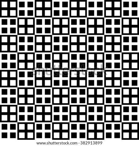 Checkered pattern with alternating black, white squares.