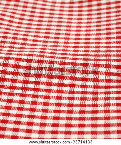 checkered picnic cloth background - stock photo