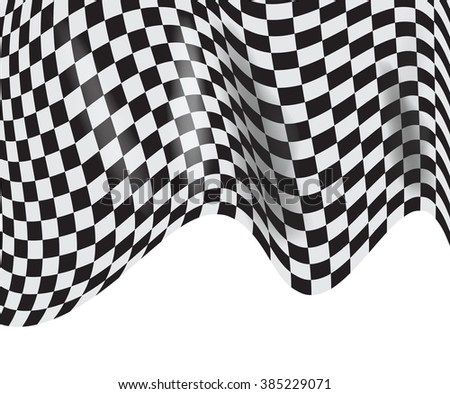 checkered race flag. Racing flags. Background checkered flag Formula one with space for your text - stock photo