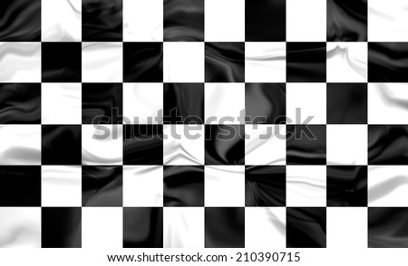 Checkered racing flag , fabric texture  - stock photo