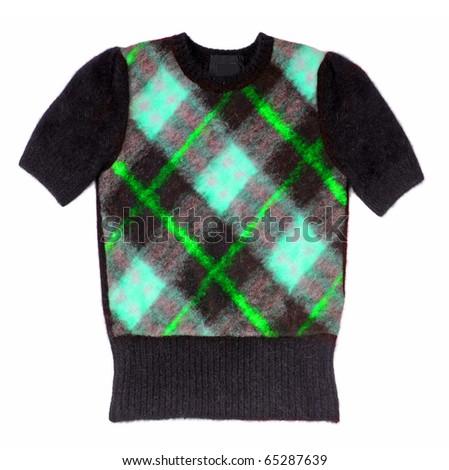 checkered shirt - stock photo