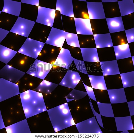 checkered sport racing flag background. bitmap  - stock photo