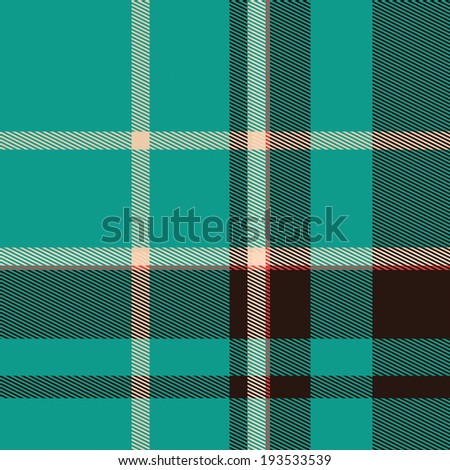 Checkered tablecloth. Seamless plaid fabric pattern background - stock photo