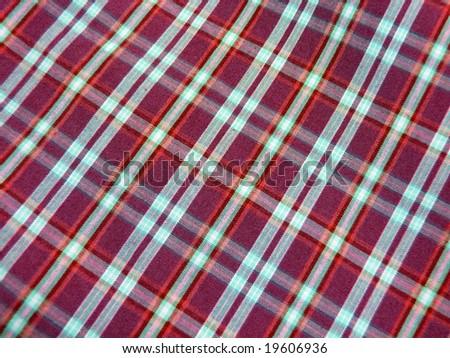 Checkered textile - stock photo