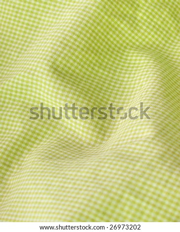 Checkered textile closeup. More of this motif & more fabrics in my port.  - stock photo