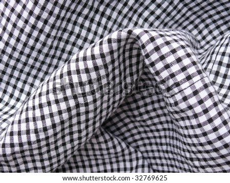 Checkered textile closeup. More of this motif &  more textiles in my port. - stock photo