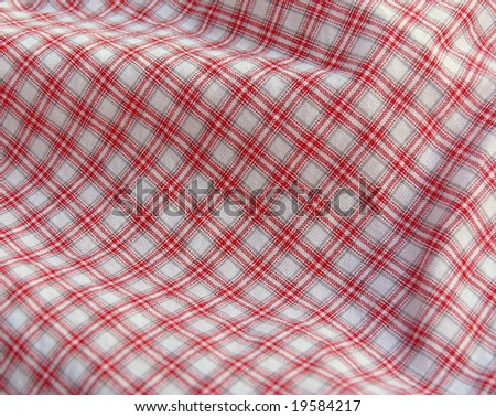 Checkered textile. More fabrics in my port. - stock photo