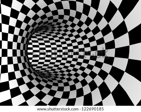 checkered texture 3d background - stock photo