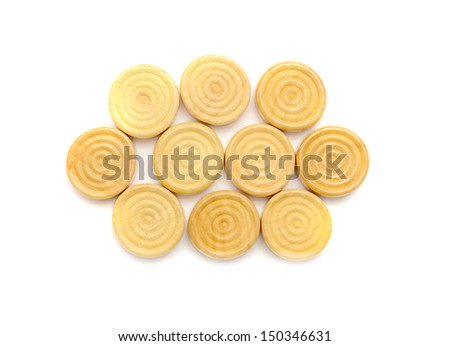 Checkers or draughts - stock photo