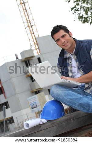 Checking last minute details - stock photo