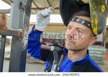 checking the frame - stock photo