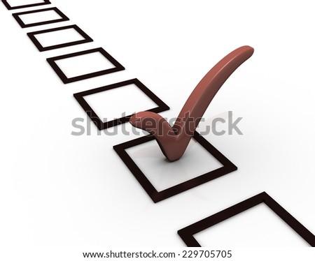 Checklist - stock photo