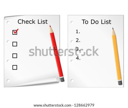 Checklist and todo list - stock photo