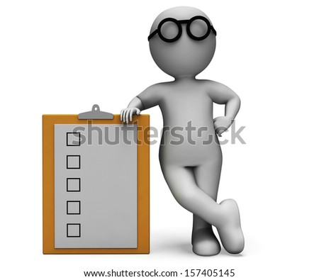 Checklist Clipboard Shows Test To Do List Or Questionnaire - stock photo
