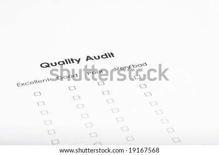checklist form completion survey work at office - stock photo