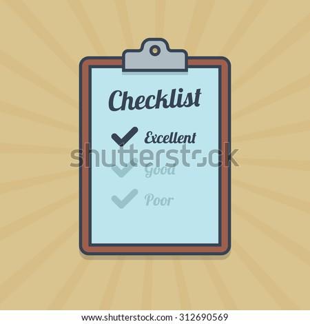 Checklist illustration in flat style. - stock photo