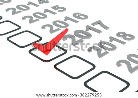 Checklist with red check, 3d illustration - stock photo