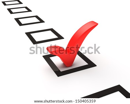 Checklist with red  check mark  - stock photo