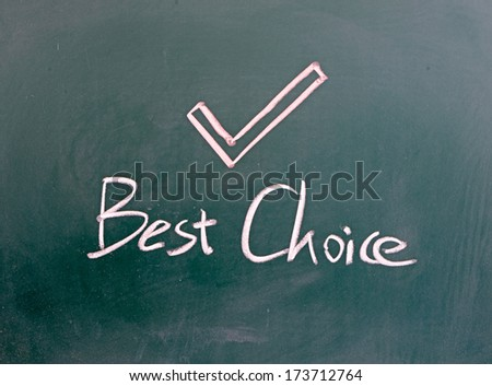 Checkmark Symbol Word Best Choice Written On Stock Photo Royalty