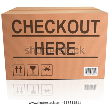 checkout here web shop icon online shopping shipment