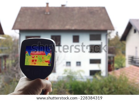 Checkup Thermal Insulation of the home - stock photo