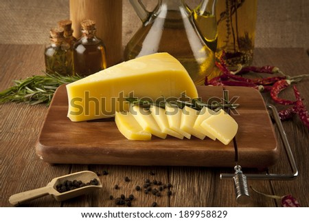 cheddar cheese concept photo - stock photo