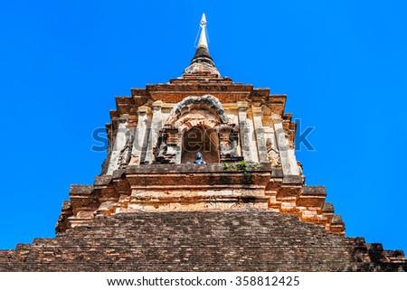 Chedi at Wat Lok Molee Temple in Chiang Mai, Thailand - stock photo