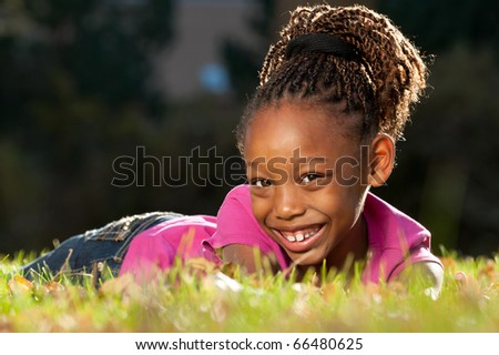 Cheerful  African American Child - stock photo