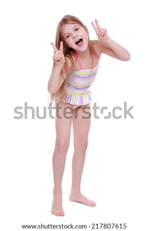 Cheerful and funny kid