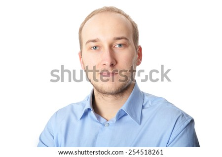Cheerful and stylish. Handsome young man in shirt looking at camera  - stock photo