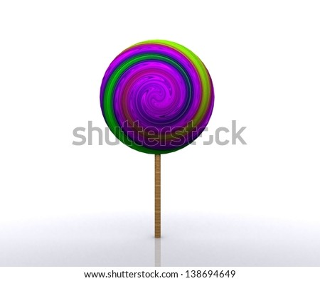 Cheerful background with candy