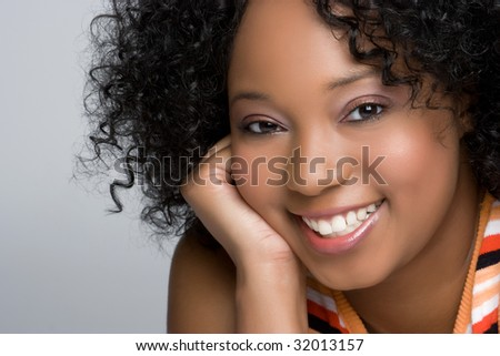 Cheerful Black Woman - stock photo