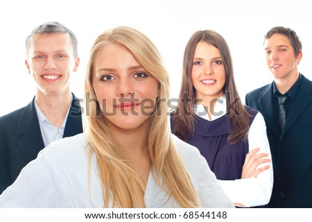 Cheerful business peoples - stock photo