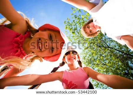 Cheerful children - stock photo