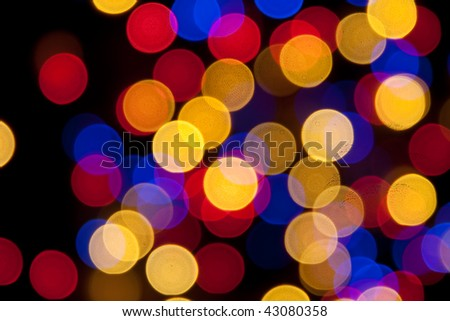 Cheerful colorful christmas bokeh, may be used as background