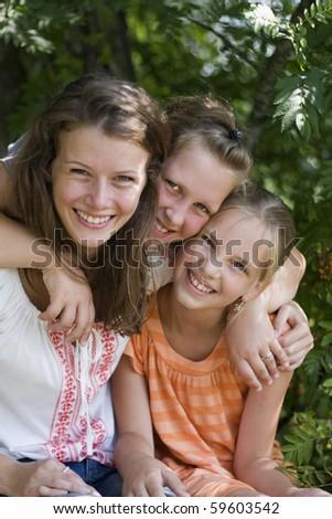 Cheerful friends - stock photo