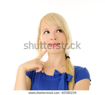 cheerful girl - stock photo