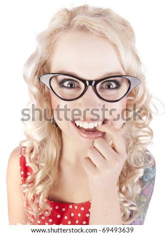 Cheerful girl - stock photo